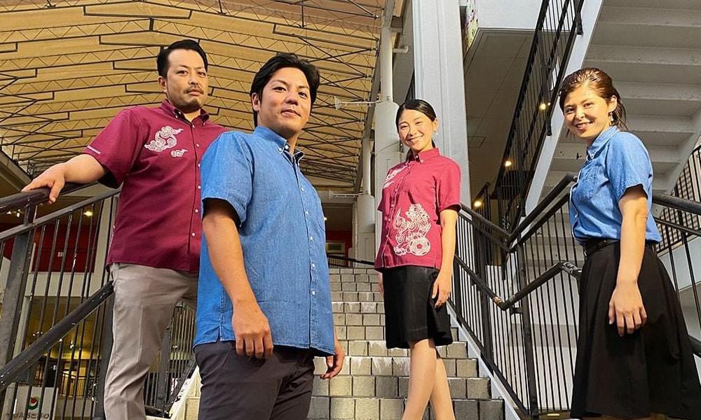 沖縄全島エイサーまつりオフィシャル 2020エイサーシャツ 着用イメージ