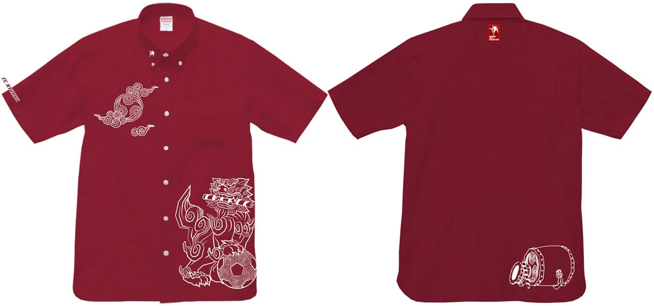 沖縄全島エイサーまつりオフィシャル 2020エイサーシャツ「02.FC琉球コラボ シーサー」